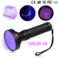 Hot 18W UV Black Light Lightlight 100 LED Best UV Light and Blacklight per l'ispezione dell'hotel per la casa, macchie di urina per animali domestici Spotlight LED