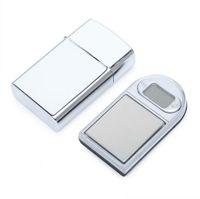 Mini LCD Digital Bolso Tipo de Isqueiro Escala de Jóias Diamante Diamante Eletrônico Escala de Gram com luz de fundo 100g / 0.01 200g / 0.01 em Stock SN1627