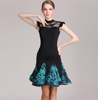 blue leopard latin dance dress to dance costumes salsa dress...