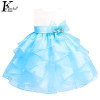 KEAIYOUHUO 2017 девушки платье без рукавов сладкий Принцесса платье для девочек лето девочка одежда цветы дети костюм платье