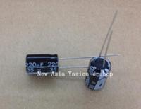 100 SZTUK 220UF 35V 105C Radial Electrolityczny kondensator 8x12mm