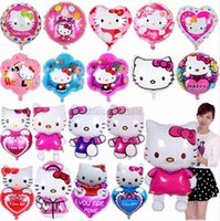 5pcs lot 18 inch Hello Kitty Foil Balloons Baby inflatable G...