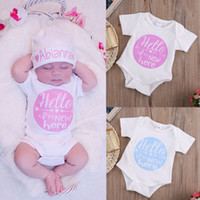 Toddler Kids Rompers Cute Letter Love Arrow Baby Girl Boy Cl...