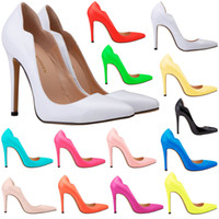 13 Colors Sexy Womens Shoes Pumps 11CM High Heels Pointed To...