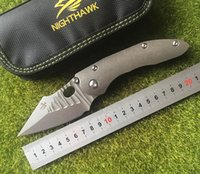 NIGHTHAWK Stitch Flipping s35vn blade Folding knife Titanium...