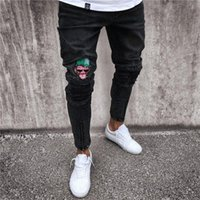 New Fashion Skinny Jeans Hole Zipper Europe and America Jean...