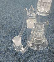 Venta al por mayor de doble reciclador desplegable adaptador macho a hembra 14mm 18mm adaptador de vidrio desplegable adaptador de vidrio de vidrio convertidor de adaptadores de vidrio
