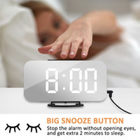 Wholesale 1 PCS LED Digital Desktop Mirror Alarm Clock Snooz...