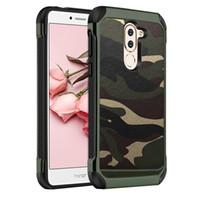 NX Army Camo Camouflage Hybird Armatura Impact PC Custodia in TPU per Huawei P9 P10 P20 P8 Lite 2017 Honor 6X GR5 2017 Mate 10 Y5 II Y6 Y7 2018