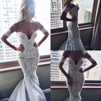 2018 Mermaid Wedding Dresses Lace Tulle Applique Sweetheart ...