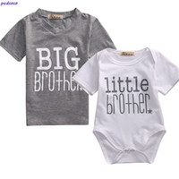Little Brother Baby Boy Bodysuits and Big Brother T-shirt Brothers Tops Lovely Brotherhood Symbolic Family Matching Clothes