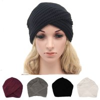 Fashion Knit Intersect Cap Warm Winter Ear Muff Hat Caps Bon...