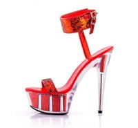 2018 fashion Sexy 15cm sandals summer ultra high heels platform transparent  and wedding shoes. a4729b22d73a