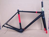 العديد من الألوان الكربون الطريق دراجة إطار كامل ألياف الكربون الطريق دراجة الإطار 45CM - 56 سم لامع لامع