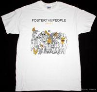 2018 camisetas de crossfit FOSTER THE PEOPLE TORCHES INDIE ALTERNATIVA LOS KOOKS NUEVA CAMISETA BLANCA Camisetas de alta calidad