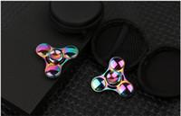 Liga de zinco Fidget Spinner Metal EDC Tri Mão Spinner Dedo brinquedo colorido UFO