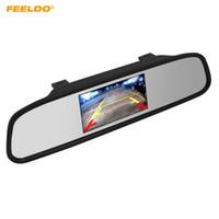 المشعف 12 فولت / 24 فولت وقوف السيارات الرؤية الخلفية 4.3 بوصة شاشة LCD TFT مرآة مرآة مع 2 إدخال الفيديو لكاميرا الرؤية الخلفية DVD / VCD فيديو # 4619