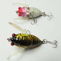 INFOF 5 stücke Popper Zikade Angeln insekt lockt 4 CM / 6G Künstliche Harte Köder Pesca Poppers Topwater Float Karpfen insekt Köder Angelgerät