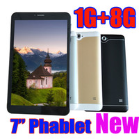3G 7 Inch Phabet Phone Call Tablet Pc 1024*600 px Capactive ...