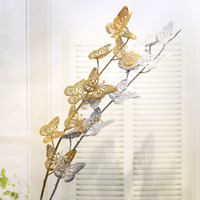 Artificial Butterfly vivid Flower Golden Flower for Home and...
