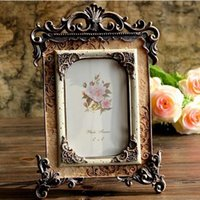 Palace Resin Photo Frame Vintage Stereo Photo Frame Home Decor nobile Chic 6 pollici 16 * 26 cm