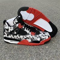 Wholesale 4 IV Tattoo low black male Men Basketball Shoes 4S...