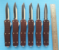 Large C1 Brown Combat troodon D A Auto EDC tactical knife kn...