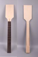 미완성 일렉트릭 기타 목 미완성 주걱 머리 받침 22 프렛 24.75 인치 메이플 우드 일렉트릭 기타 교체 트러스로드 # 4