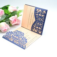 2018 Hot Sale Romantic Pocket Laser Cut Wedding Invitations ...