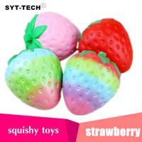4 colori 12cm grande Colossal fragola squishy jumbo simulazione Frutta kawaii Artificiale lenta crescente squishies queeze giocattoli borsa telefono fascino