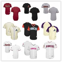 Personalizzato Men's women youth Majestic Arizona Diamondbacks Jersey nome personalizzato e numero Black Grey White Kids Girls maglie da baseball