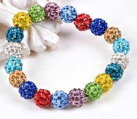 Cheapest!! Crystal balls beads Bracelets Rhinestone Ball shi...
