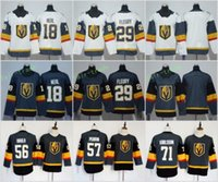 Vegas Golden Knights 29 Marc-Andre Fleury Jerseys 18 James Neal 56 Erik Haula 57 David Perron 71 William Karlsson Stiched Hombres Mujeres Niños