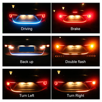 Car Styling Turn Signal Amber Flow Led strip trunk Tail Ligh...