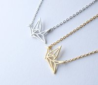 30 قطع كلاسيكي الجوف خط كرين قلادة قلادة بسيطة المخطط تحلق الطيور مجوهرات الإكسسوار هدية للمرأة