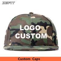 Yüksek Kaliteli Moda Özel 3D Nakış Kamuflaj Beyzbol Snapback Unisex Yetişkin Çocuk Ücretsiz Özelleştirilmiş Yapımı Caps Şapka