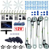 Universele auto / auto 4 deuren 8 stks / set Moon switces met harnas kabel electronice power window kits dc12v # 3754