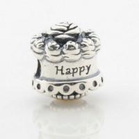 5 sztuk / partia Oryginalne Happy Birthday Charms S925 Sterling Silver pasuje do oryginalnych styl bransoletki 791289 H9