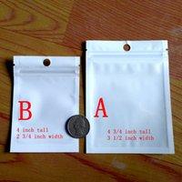 Flaches Fallloch 100PCS Clear / White Mylar Zip Lock Taschen 7x10cm \ 9x12cm Direkt ab Werk der Fabrik bieten die Gewohnheiten, Großhandel.