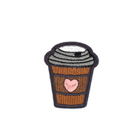 10PCS Diy Heart Shaped Coffee Cup Patches Fabrics Apparel Ki...