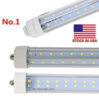 In USA + V-Shaped Single Pin FA8 R17D 8ft luci tubi led 65W 72W 8 piedi T8 luci led tubi doppio lato AC85-265V