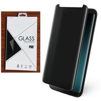 케이스 친절한 3D 곡선 개인 정보 보호 강화 된 유리 스크린 수호자 삼성 S9 S9에 대한 더하기 S8 S8 플러스 참고 8 100PCS / LOT