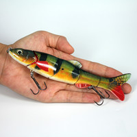 wobbler입니다 진동 미끼 Swimbait 낚시 태클 침몰 높은 품질 큰 크기의 미끼 물고기 미끼 5 절 관절 루어 16.5cm의의 38g