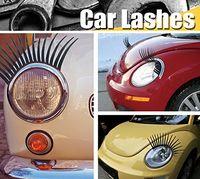 Leuke Auto Eyelashes Decal Auto Sticker voor Koplampen Automotive Wimpers Eyeliner 3D Logo Sticker Zwarte Kleur