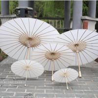 parasoles nupciales de la boda Paraguas del Libro Blanco Paraguas chino mini del arte 4 Diámetro: paraguas de la boda de 20,30,40,60cm