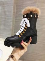 Новое прибытие женские зимние Sonw лодыжки Мартин пинетки Жемчужина шерсть высокий каблук 6 см 100% натуральная кожа размер ботинка 35-40