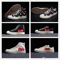 da718cbd62408 CDG x Converse chuck taylor 1970S 2018 All Stars Zapatos CDG Canvas Big  eyes Hearts Brand