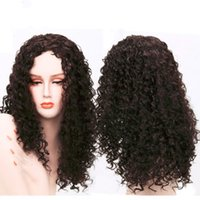 Synthetic wigs Afro Curly Hair Wigs for Black Woman long cur...