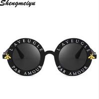 Neueste Mode Runde Sonnenbrille Frauen Markendesigner Vintage Farbverlauf Shades Sonnenbrille UV400 Oculos Feminino Lentes
