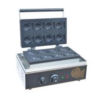 Ticari Kullanım yapışmaz 110 v 220 v Elektrikli 6 adet Mini Japon Taiyaki Balık Waffle Makinesi Küçük Balık Kek Makinesi